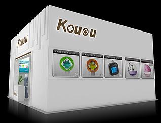 KOUOU日用品展台展览模型