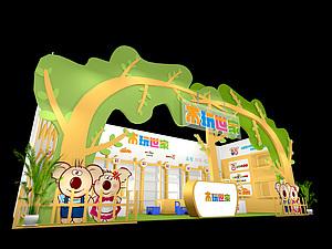 木玩世家玩具展臺展覽模型