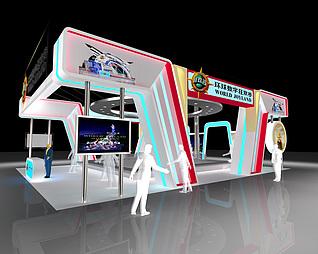 环球数字狂欢谷展台展览模型