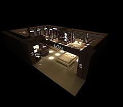 罗莱家纺家居展厅展览模型