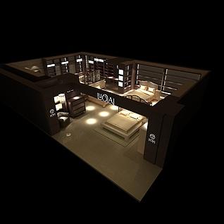 罗莱家纺家居展厅3d模型