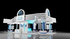 枣庄政府成就展台展览模型