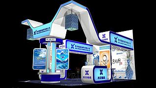 西安杨森医药展展厅展览模型