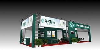 兴齐医药展展台展览模型