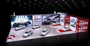 泰陵汽車展臺展覽模型