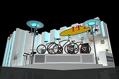 ITEK 自行车展台展览模型