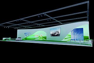 新能源汽车展台展览模型
