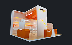 Luckystar智能设备展台展览模型