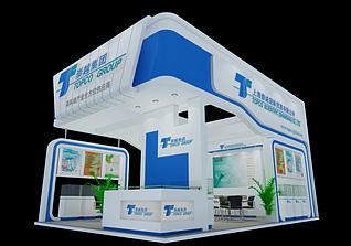 崇越集团国际贸易展台展览模型