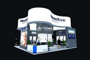 東軟軟件科技展臺展覽模型
