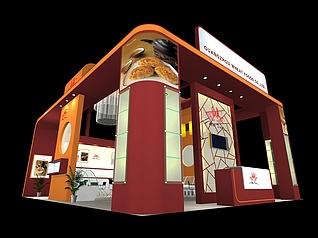 广州麦田食品展厅设计展览模型