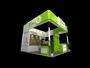 缘汇食品展厅设计展览模型