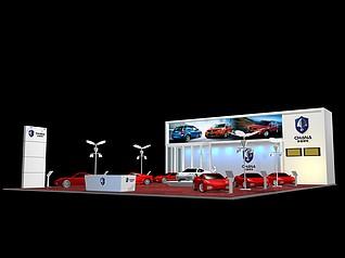 长安汽车展台展览模型