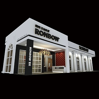 朗邦卫浴展厅展览模型