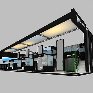 金莎丽卫浴展台设计展览模型