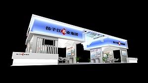 揚子江藥業展廳展覽模型