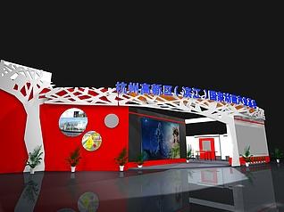 杭州动画产业基地展厅展览模型