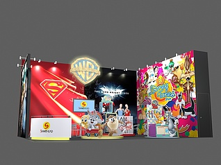 迪斯尼动漫展厅展览模型