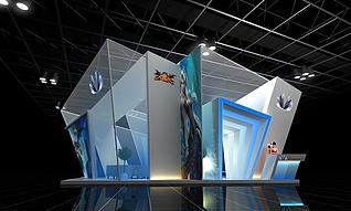 修罗王展台源文件展览模型