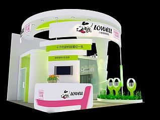宠物用品展台展览模型