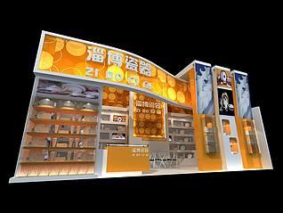 淄博瓷器展馆展览模型