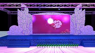 中秋舞台展览模型