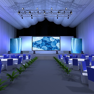 晚会舞台3d模型