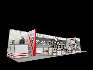 自行车展馆展览模型
