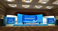 会议舞台展览模型
