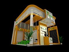 宁波大叶园林设备展览模型