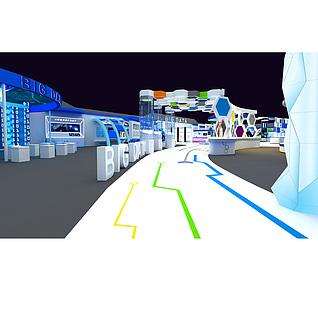 大数据展厅展览模型