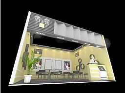 暖色展厅展览模型