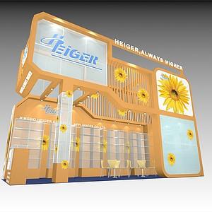网络信息展厅模型3d模型