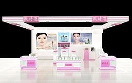 化妆品专柜展览模型
