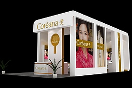 化妆品简单展览模型