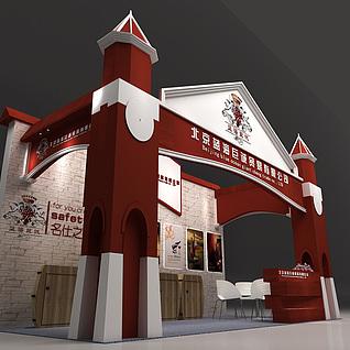 一款欧式风格红酒展台3d模型