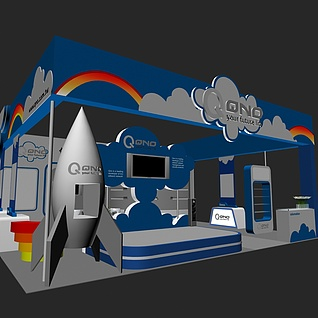 科技展台展览模型