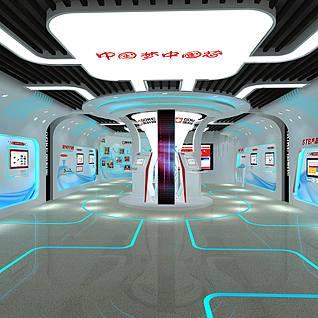 国科微电子展厅设计展览模型