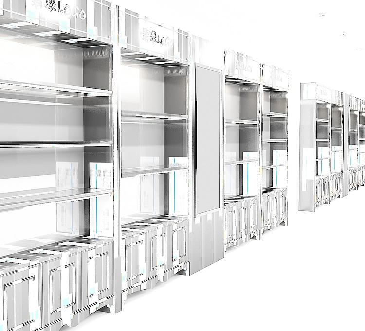 展厅珠宝柜模型模型