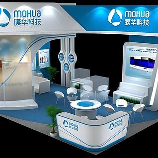 膜华水处理展台展览模型