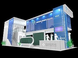 青岛金晶 展厅展览模型