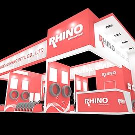 RHINO轮胎展厅展览模型