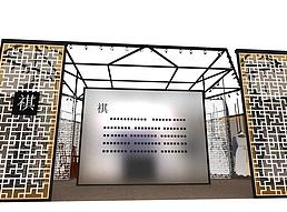 祺服装店展厅展览模型