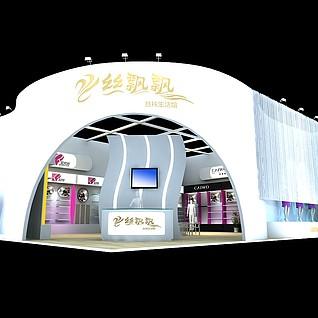 丝飘飘展厅展览模型