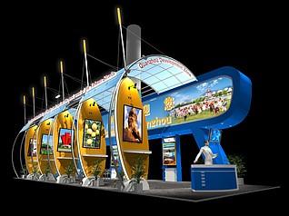 游乐园展厅展览模型