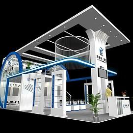 科技器器械展厅展览模型