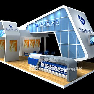 医药展厅3d模型