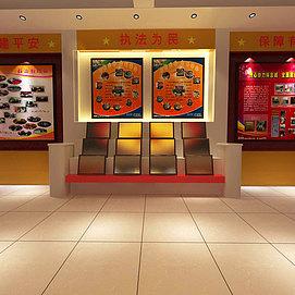 消防部队荣誉展厅展览模型