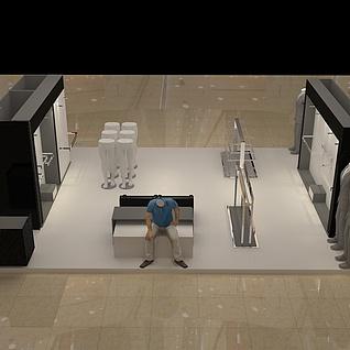服装展厅展览模型