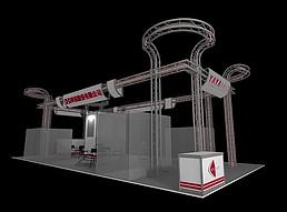 科技股份展厅亚洲展览模型